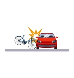 Car and Transportation Crashed Bike vector image vector image