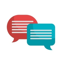 Chat Bubble speakbox isolated icon design vector image