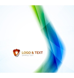 Futuristic business green and blue colors wave vector image vector image
