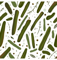 Green Canned Spicy Beans Seamless Pattern vector image vector image