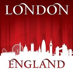 London England city skyline silhouette vector image vector image