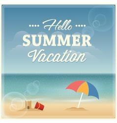 Summer vacation greeting card design vector