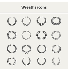 Wreaths icons set vector image