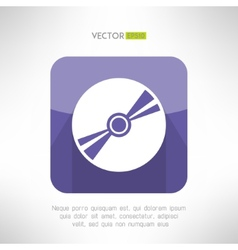 Audio disk icon im modern flat design Musical cd vector image