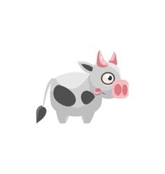 Cow Simplified Cute vector image vector image