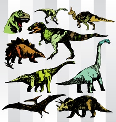 dino colorful vector image vector image