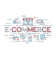 e-commerce online shopping retail sale vector image