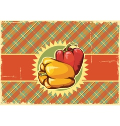 Peppers Vintage label vector image vector image