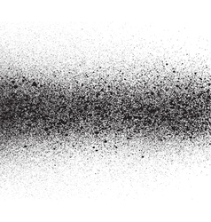spray painted gradient detail in black over white vector image vector image