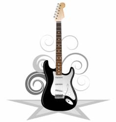 artistic guitar vector image vector image