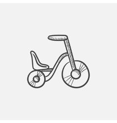 Child bike sketch icon vector image vector image