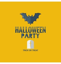 halloween party flat design background vector image vector image