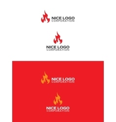 Ignite fire logo vector