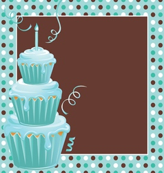stacked cupcakes vector image vector image