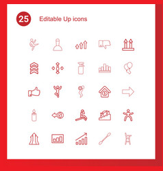25 up icons vector