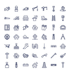 49 construction icons vector