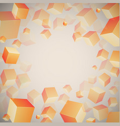 abstract 3d cubes pattern vector image
