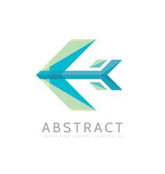 abstract arrow - logo template concept vector image