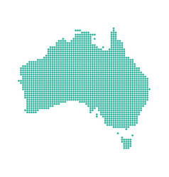abstract australia map dotted vector image
