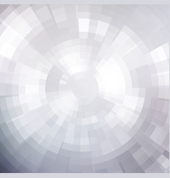 Abstract white shiny concentric mosaic vector