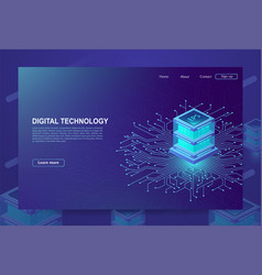 ai concept big data processing center cloud vector image