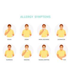 Allergy symptoms vector