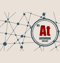 Astatine chemical element vector