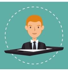 Avatar business man vector