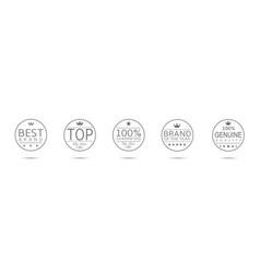 award badge set vector image