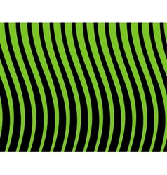 black and green striped background vector image