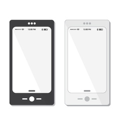 Black and white cell phone templates and icons vector
