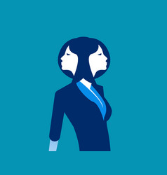 Businesswoman two face concept business vector