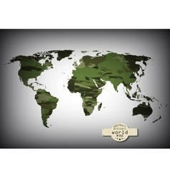 Camouflage military world map vector