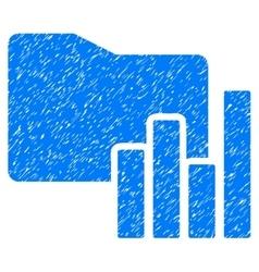 Charts Folder Grainy Texture Icon vector
