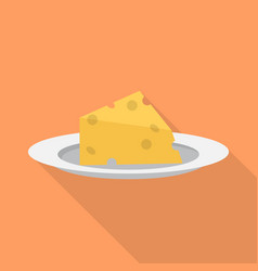 cheese icon set of great flat icons design vector image