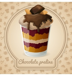 Chocolate praline poster vector