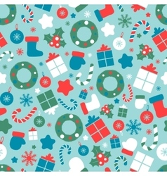 Christmas seamless pattern with different sizes vector image vector image