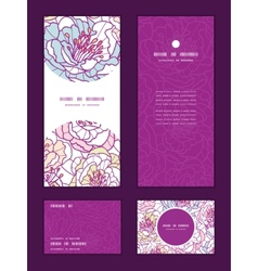 colorful line art flowers vertical frame pattern vector image
