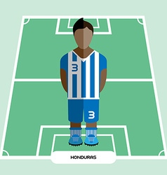 Computer game Honduras Football club player vector