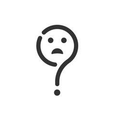 Confusion expression icon vector
