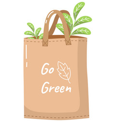 ecological bag with inscription eco-friendly vector image