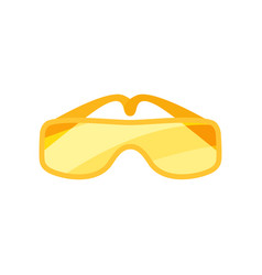 Flat icon of safety goggles glasses with vector