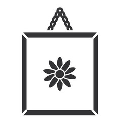 Flower painting isolated icon vector