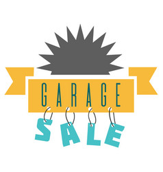Garage sale sign advertising deals logotypes vector