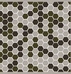 gexagonal camouflage digital pattern vector image