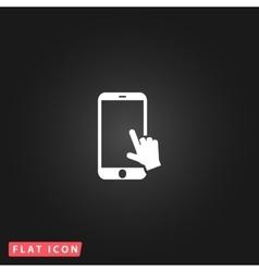 Hand slide smartphone vector