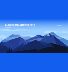 Horizontal background with mountains vector