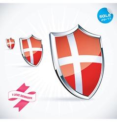 I Love Denmark Flag vector image