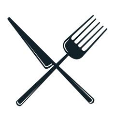 icon fork knife kitchen design vector image
