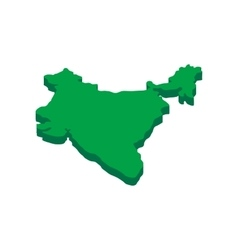 India map icon isometric 3d style vector image